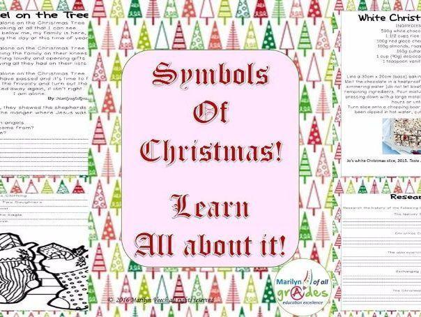 Symbols of Christmas.