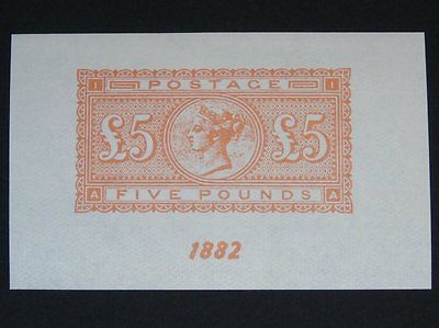 Stamp Pickers Great Britain 1940 Expo 1882 QV £5 Imperf Scott #93 MNH S/S