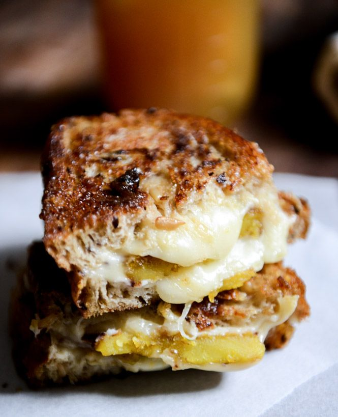 Caramelized Butternut Squash, Roasted Garlic and Coconut Butter Grilled Cheese. Oh yum!