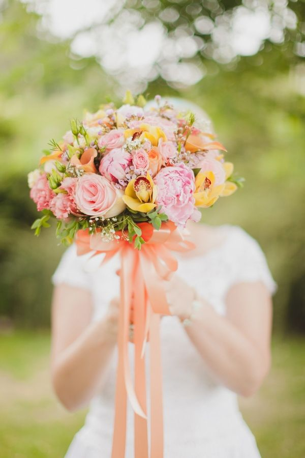Pink and yellow #bouquet