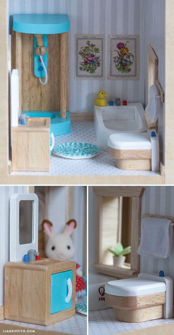 1000 ideas about wooden dollhouse on pinterest diy dollhouse dollhouse ideas and homemade. Black Bedroom Furniture Sets. Home Design Ideas