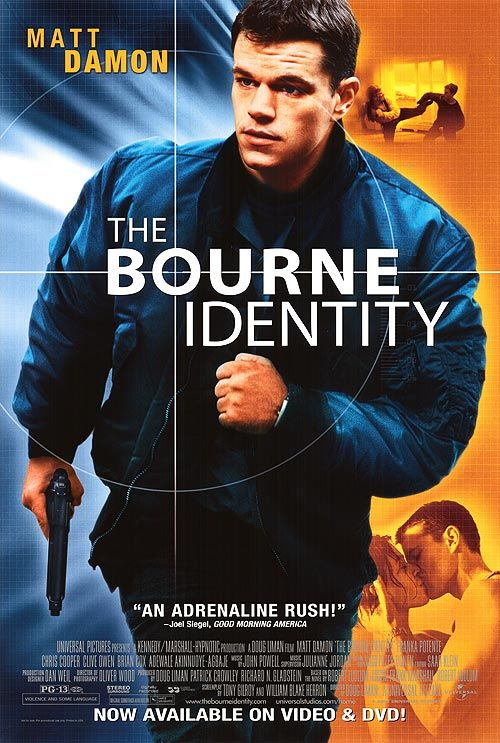 Image result for THE BOURNE IDENTITY ( 2002 ) GIF POSTER