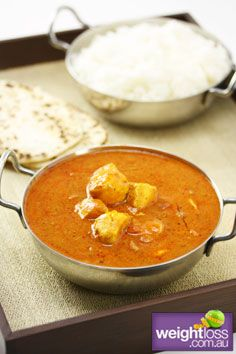 Healthy Chicken Recipes: Low Fat Chicken Tikka Masala. weightloss.com.au #HealthyRecipes #DietRecipes #WeightlossRecipes