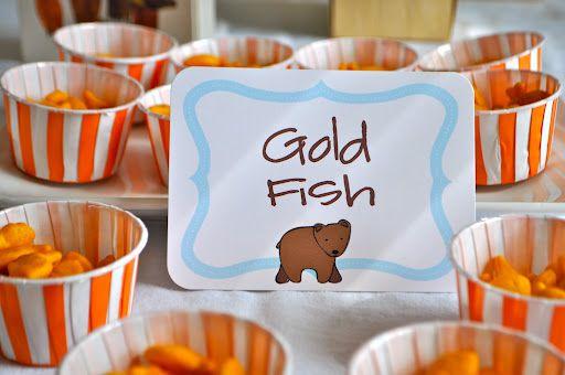 Koehler Family: brown bear, brown bear, what do you see??????Brown Bears Birthday, Bears Parties, 1St Birthday, 2Nd Birthday, Bears Snacks, Gold Fish, Eric Carl, Little Bears Birthday Parties, Birthday Ideas