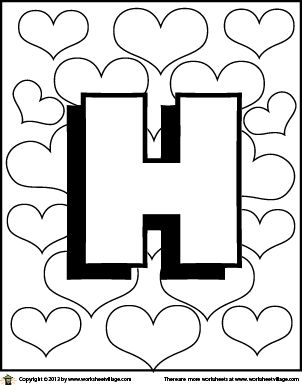 color the letter h
