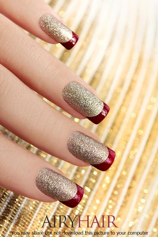Red And Golden Nail Art Designs - To Bend Light