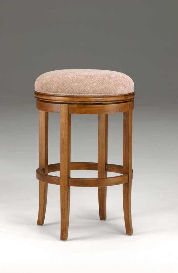 Hillsdale Oak View Backless Swivel Bar Stool Oak