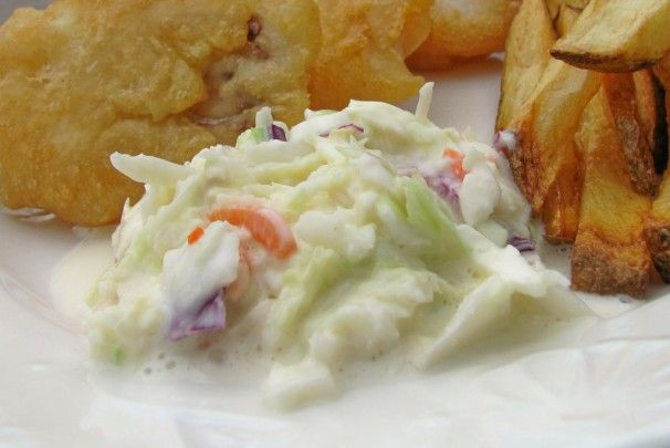 KFC Coleslaw by Real Employee. Use 1/4c sweet blend and mayo. (S)