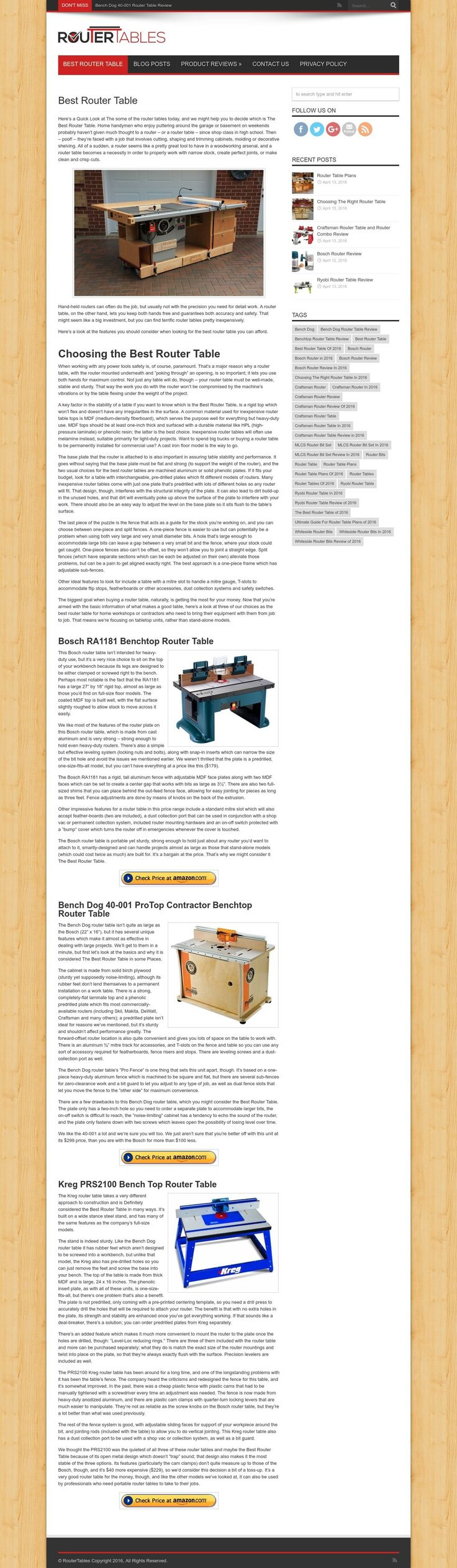 bench dog router table. best router table, is a rigid top which won\u0027t flex and doesn\u0027 bench dog table