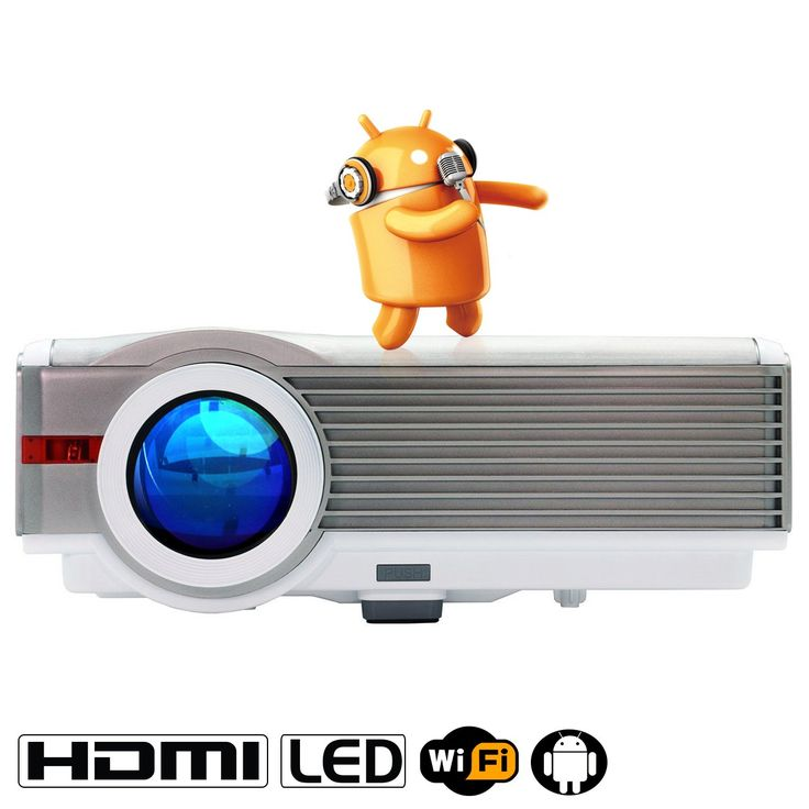 """EUG LCD 5.8"""" TFT 4200 Lumnes Wifi Hdmi Projector 1080p 1280x800 Full Hd Projector Home Cinema System 3d Ready Built-in Android Support Home Moive Tv, Games Gaming, Meeting, Teaching, Outdoor Projection At Night. Updated 2016 home theater projector with WIFI function, perfect for home theater system, video gaming, movie, photo sharing, family gatherings, outdoor parties and more. NOT Recommended for PPT, Word, Excel or business presentation. MULTI-FUNCTION INPUT- Built-in 10W speaker..."""