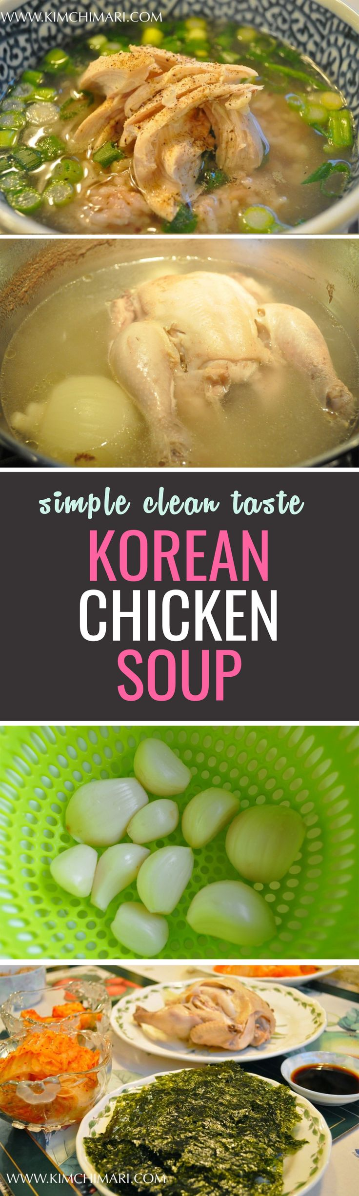 A dish that appreciates the simple taste of chicken. Season the soup with some pepper and get your rice ready!