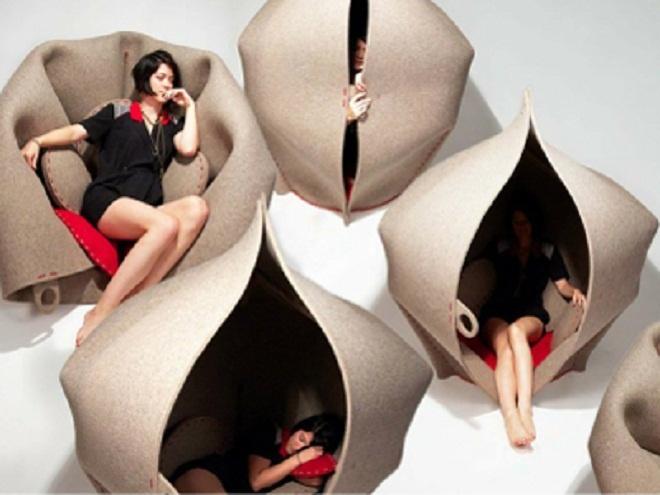 Womb chair. La silla útero, para refugiarse en esos momentos difíciles.