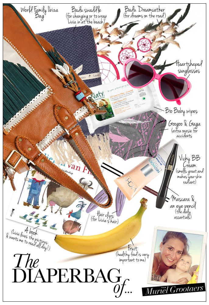 Pret a Pregnant - This week stunning mom Muriël Grootaers, opens her diaperbag and reveals her favorite items while on-the go!