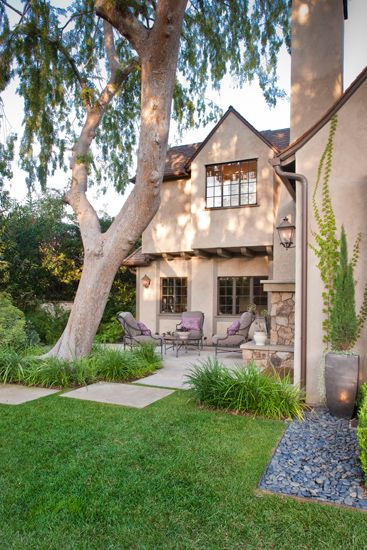 Tudor Revisited Yard By Rozalynn Woods Interior Design