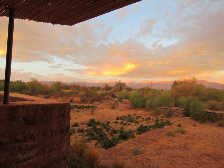 Looking out my room. San Pedro de Atacama, Chile. Photo by CD
