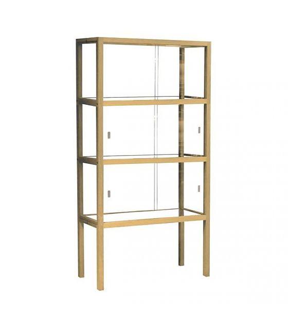 HK-living Display cabinet glass / wood, 75x36x148cm - lefliving.com