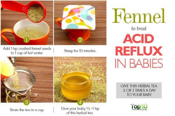fennel tea for acid reflux in babies