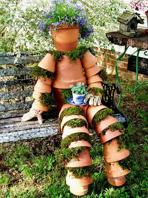 "I've always wanted one of these, & this ""pot man"" with plants growing out of him having his tea is great!"