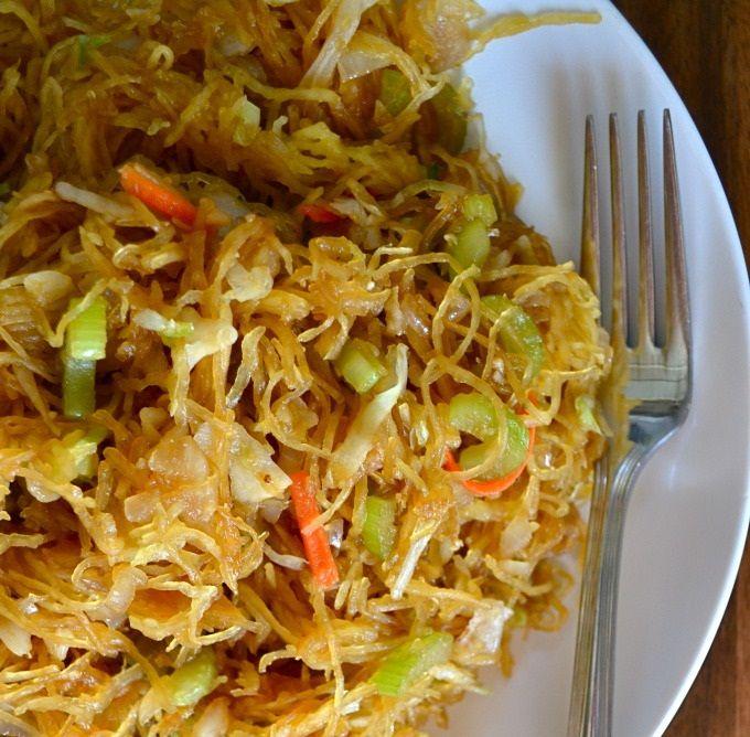 Spaghetti Squash Chow Mein (AIP, Vegan, Gluten-Free) - Just Paleo Food