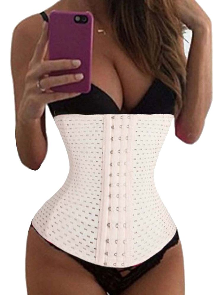 LODAY Women 4 Steel Boned Mesh Waist Cincher Slimming Bustier Belt For Hourglass (3XL, WHITE). High quality fabric breathable and comfortable enough to be worn all day long, sweat-free comfort, antibacterial, moisture wicking. 4 spiral steel boned latex waist cincher, a helpful corset gives a slim figure for you. High Compression,reduce waistline up to 3 sizes instantly. Adjustable 3 rows hook&eyes,high elastic free support. Suitable for any aerobic exercise or weight reduction program.
