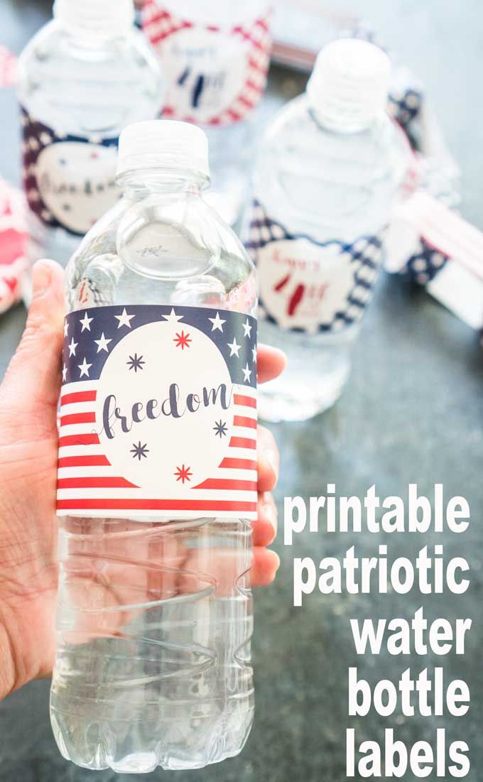 Printable Patriotic Water Bottle Labels The Hier