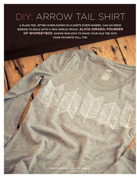 Rue isssue 15....DIY arrow shirt print