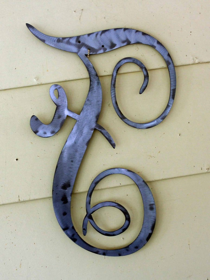 Old English Script Metal Letter F By Hudsonmetalworks On