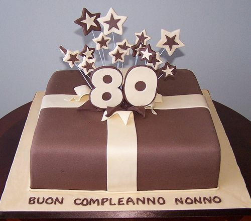 80th Birthday Package Cake | Beth | Flickr