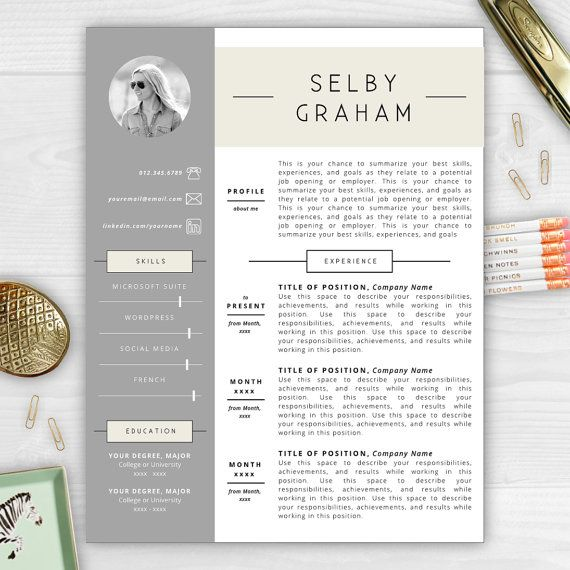 resume template with photo cv template by resumetemplatestudio - Summarize Your Achievements