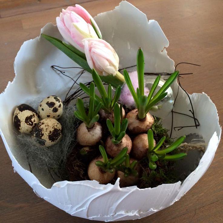 De+NIEUWSTE+trend+na+de+wollen+ballon+eieren…+Eieren+gemaakt+van+muurvuller+van+de+Action!