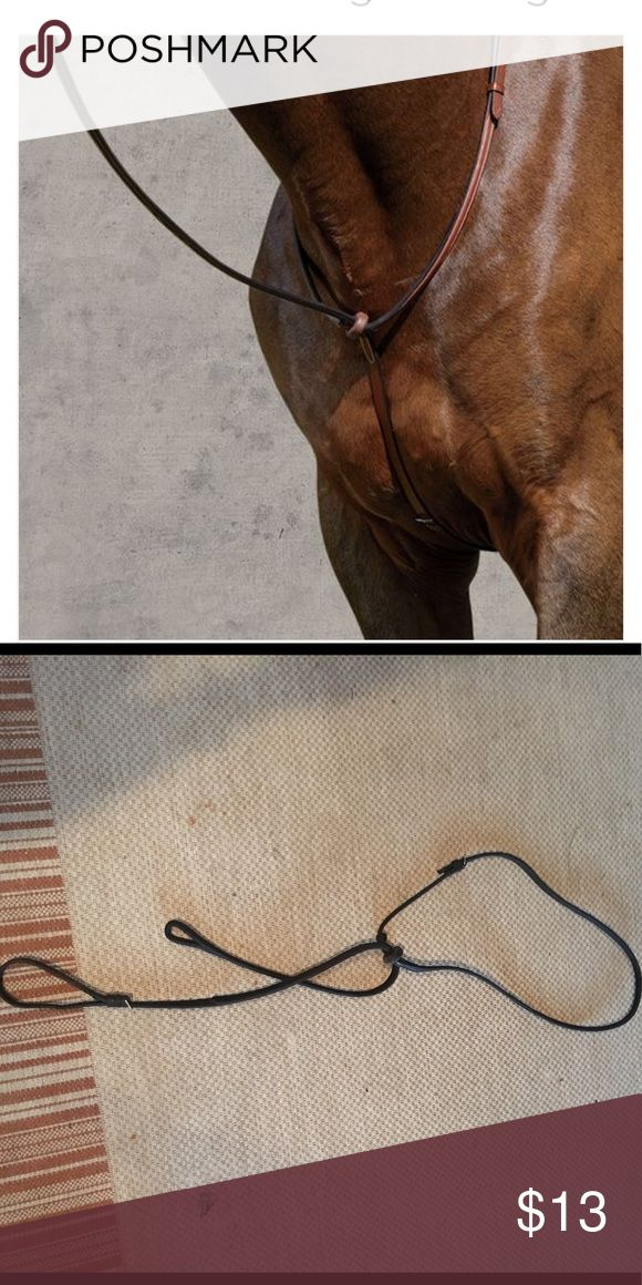 Dover Saddlery Everyday Raised Standing Martingale Used brown pony sized Martingale with rubber ring. Other