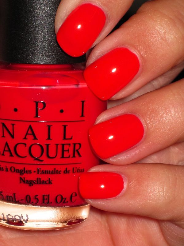 "OPI ""Cajun Shrimp""...  I like this color, will go good on my toes only though."