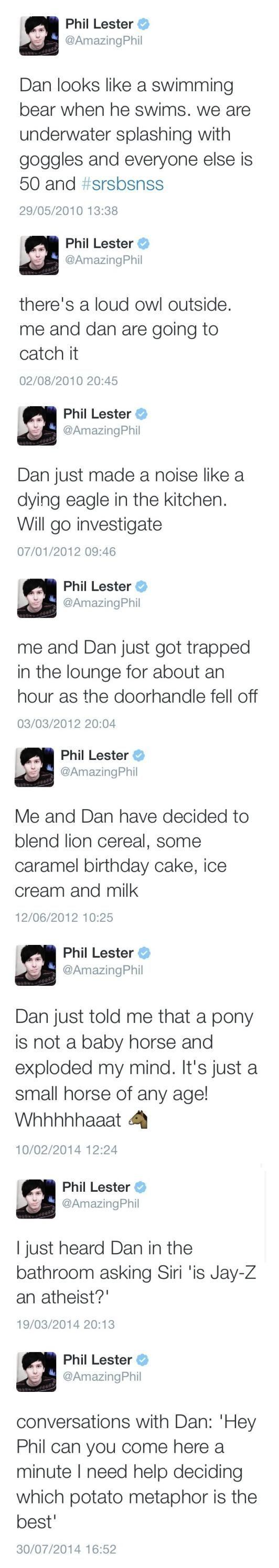 Phil's tweets including Dan: