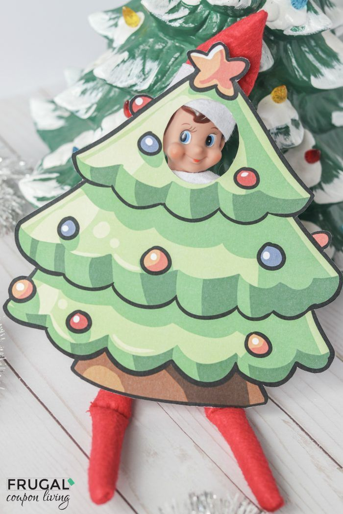 Elf Printable Costumes Seven Elf On The Shelf Ideas With Images Christmas Tree Costume Christmas Props Elf
