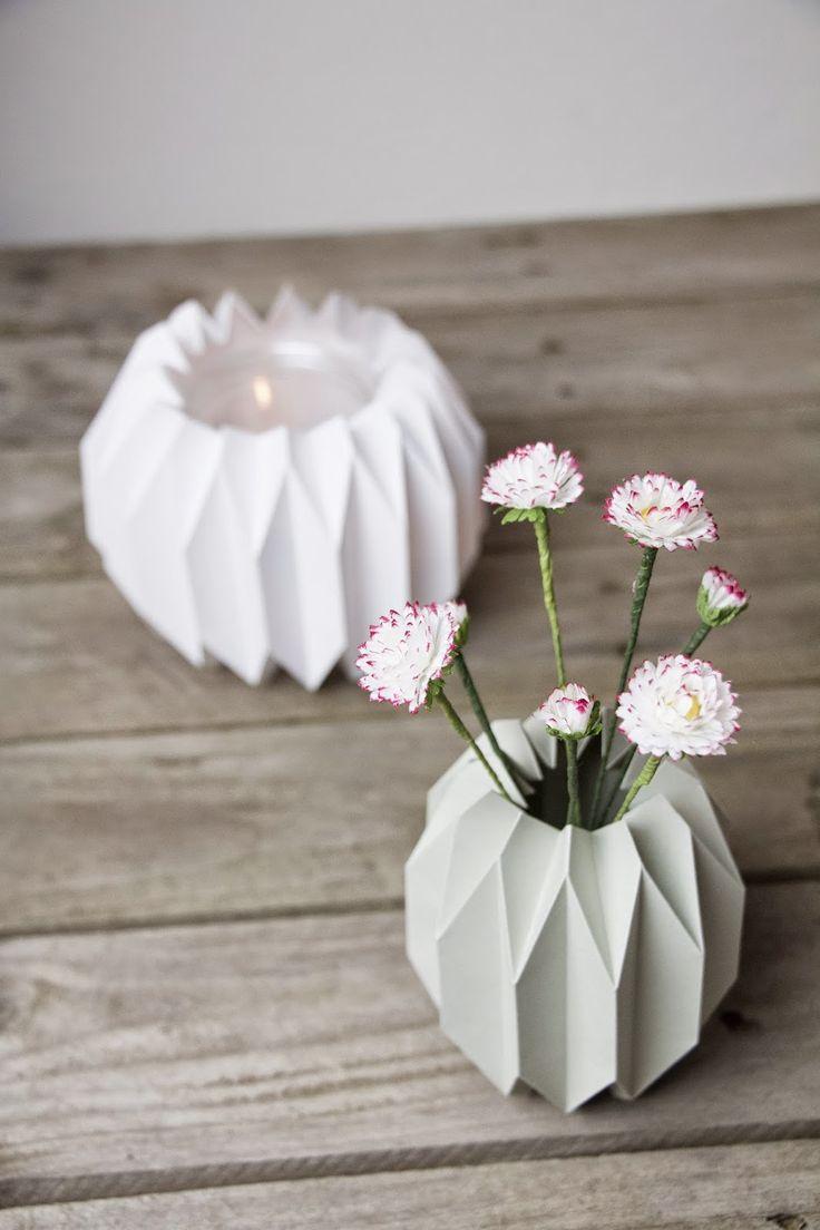 Diy geometrische vase windlicht craft ideas for Geometrische deko
