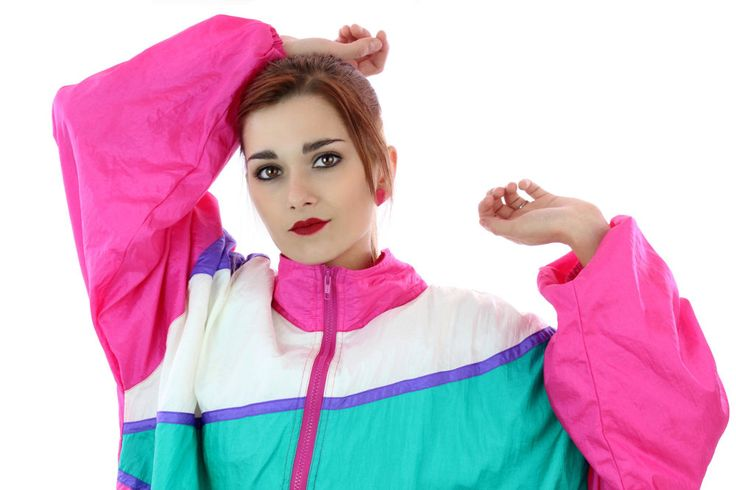 90s Colorblocked Windbreaker Jacket 80s Vintage 1980s 1990s Colorblock Workout Running Surf Exercise Unisex Mens Womens Large XL Plus 2X by neonthreadsdesigns on Etsy