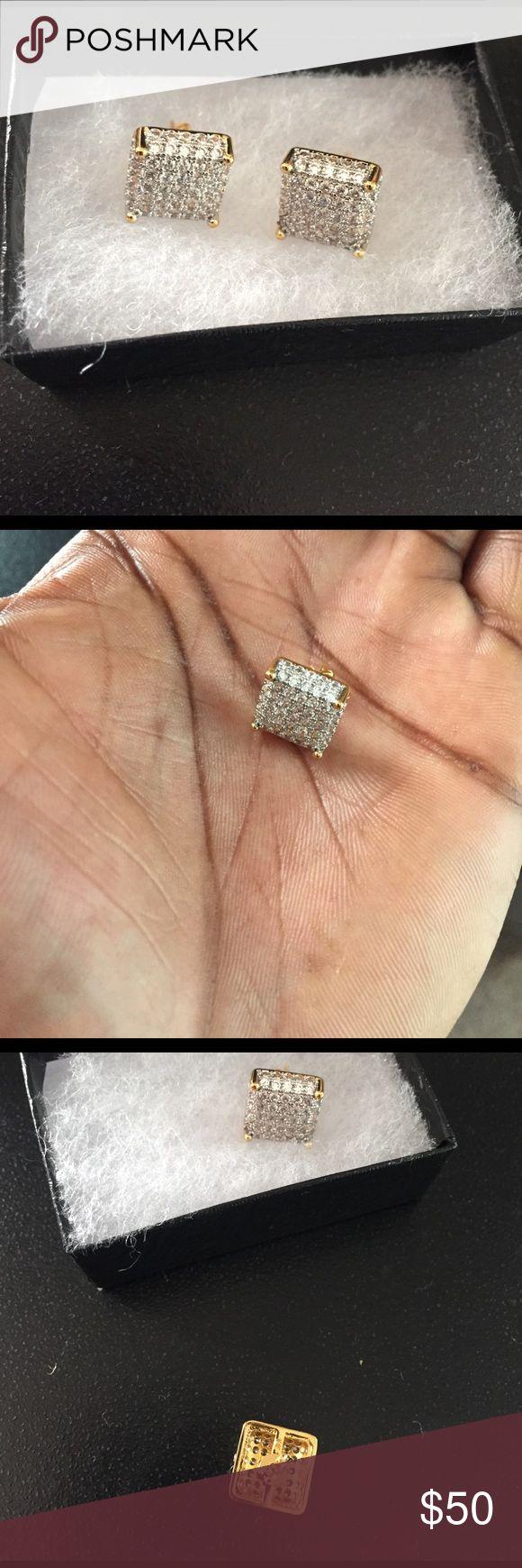 Men's earring Brand new diamond earring for men Accessories Jewelry