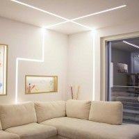 Novalux Barra LED alluminio per soggiorno mt. 2 per l'installazione a parete, soffitto,