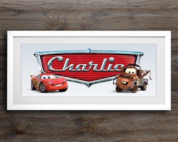 Lightning Mcqueen Name Art Disney Cars Disney Nursery Etsy Disney Cars Room Car Room Decor Disney Cars Bedroom