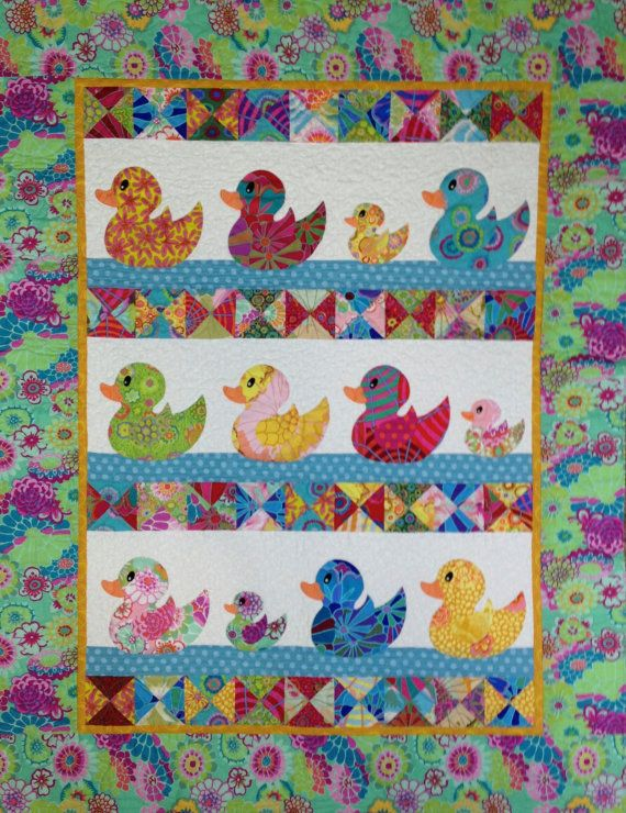Darling ducky quilt with Kaffe fabrics