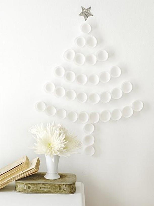 kerstboom van cupcake papiertjes. Door chantib