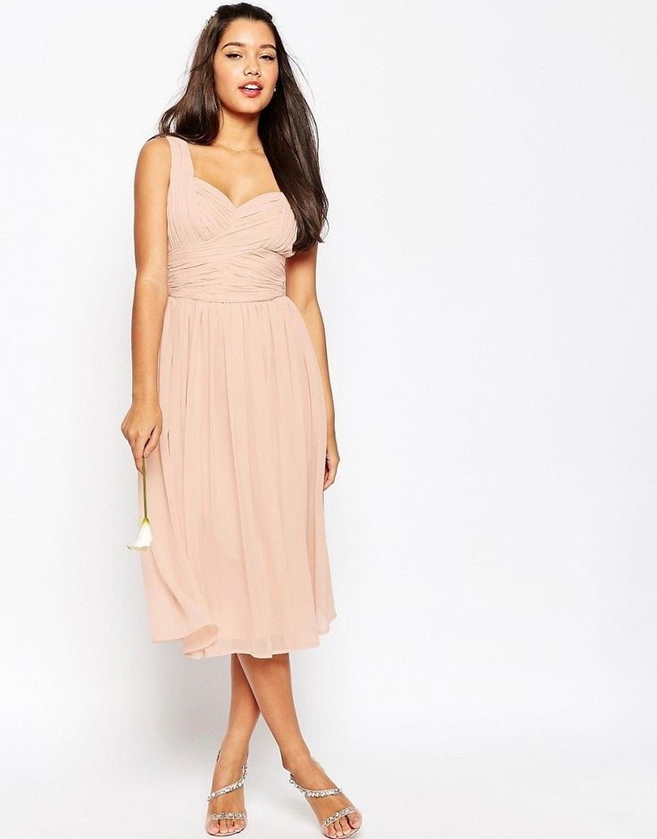 Image 1 of ASOS WEDDING Ruched Panel Midi Dress