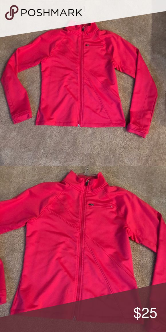 Champion pink zip up jacket Full zip. Pink. Never worn. Women's size small. Champion Tops Sweatshirts & Hoodies