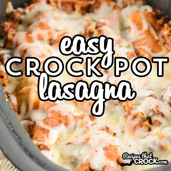 This Easy Crock Pot Lasagna Recipe does NOT require you to boil your noodles ahead of time! Homemade lasagna has never been so easy to throw together!