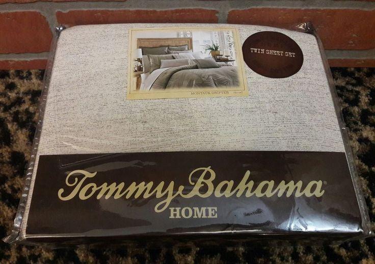 NEW TOMMY BAHAMA TROPICAL MONTAUK DRIFTER 3 PIECE TWIN SHEET SET #TommyBahama #Tropical