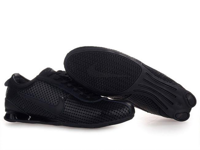 055WO48 2015 Nike Shox Rivalry Premium Black/Black Mens
