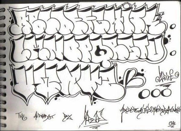 graffiti alphabet styles bubble Graffiti style alphabet | Design ...