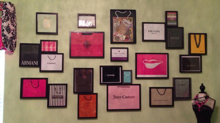 Framed designer shopping bags--Andrea Danielle Designs