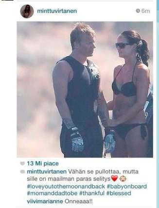 Kimi Raikkonen is an expectant father! Congratulations!