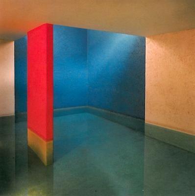 Luis Barragan; interior [pool] shot of possibly Cuadra San Crisobal, Mexico City 1966-68 __ photo courtesy of The Barragan Foundation